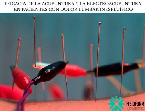 EFICACIA DE LA ACUPUNTURA Y LA ELECTROACUPUNTURA EN PACIENTES CON DOLOR LUMBAR INESPECÍFICO