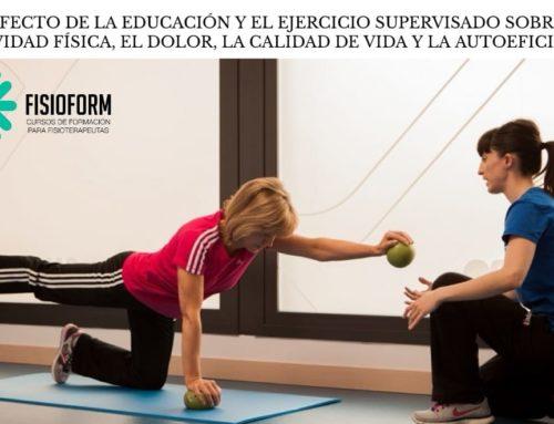 El efecto de la educación y el ejercicio supervisado sobre la actividad física, el dolor, la calidad de vida y la autoeficacia: Un estudio de intervención con un grupo de referencia.